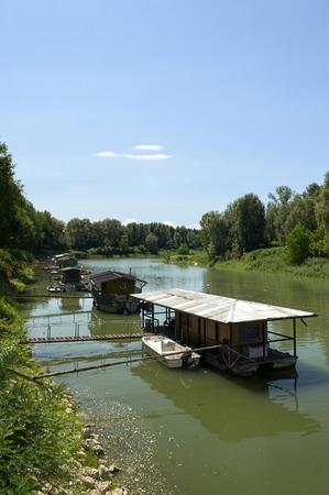 turistic: Viadana (Mn), some houseboat on the Po river