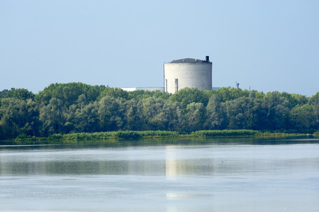 uranium radioactivity: Caorso (Pc), Italy, the nuclear power plant now in dismantling on the Po river