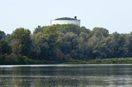 dismantling: Caorso (Pc), Italy, the nuclear power plant now in dismantling on the Po river