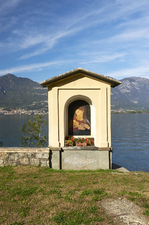 devotions: Pisogne (Bs), Italy, a little chapel on the bank of Lake Iseo