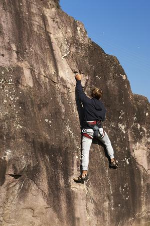 free climbing: Darfo (Bs), Valcamonica,Italy,  a free climbing