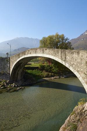 seventeenth: Darfo (Bs), Valcamonica, Italy, the bridge of Montecchio on the river Oglio, of the seventeenth century