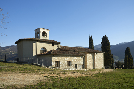 devotions: Ome (Bs), Italy, the shrine of St.Mary of the Grave Stock Photo