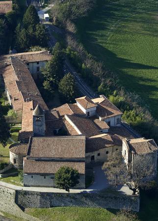 monasticism: Provaglio dIseo (Bs), Italy, the monastery of St.Pietro in Lamosa Stock Photo
