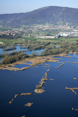 bogs: Provaglio (Bs),Italy, view of the National Reserve of Peat Bogs of lake Iseo