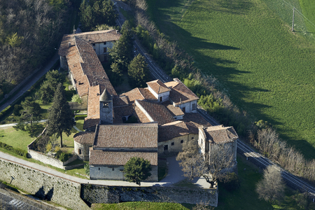 devotions: Provaglio dIseo (Bs), Italy, the monastery of St.Pietro in Lamosa Stock Photo