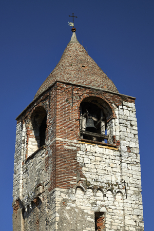 monasticism: Provaglio dIseo (Bs), Italy, the tower bell of the monastery of St.Pietro in Lamosa