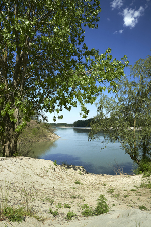 po: Mezzani (Re), the Po River