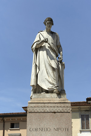 historian: Ostiglia (Mn), Italy, the monument to Cornelius Nepos,Roman historian