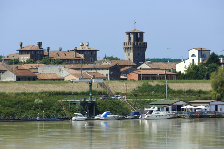 revere: Revere  (Mn),Italy,view of the country on  the River Po Stock Photo