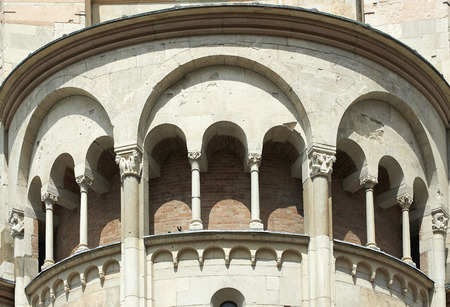 Modena,Italy, archiectural detail of the cathedral