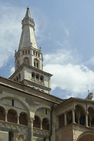 devotions: Modena,Italy, archiectural detail of the cathedral