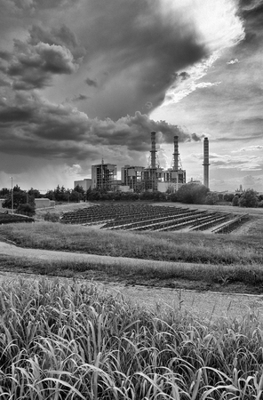 mn: Sermide (Mn), Italy, the thermal power plant Stock Photo