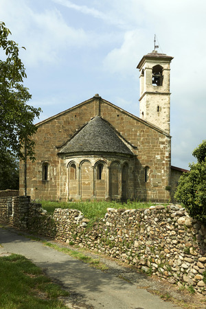 devotions: Almenno San Salvatore (Bg), Italy, the romanesque church of Saint George, XIIXIV secolo