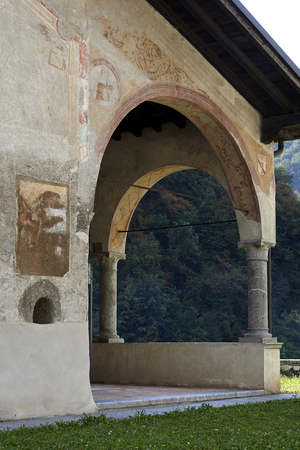 devotions: Tavernole sul Mella (Bs), Italy, the church of St.Filastrio, Stock Photo
