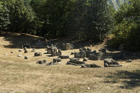 etruscan: Marzabotto (Bo), Italy, the necropolis east of the Etruscan city of Kainua,sixth century BC Stock Photo