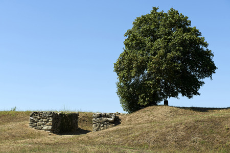 etruscan: Marzabotto (Bo), Italy, ruins of the Etruscan city of Kainua,sixth century BC