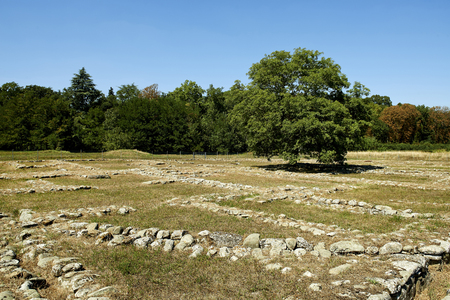 etruscan: Marzabotto (Bo), Italy, ruins of the homes of the Etruscan city of Kainua,sixth century BC Stock Photo