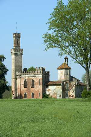 Gottolengo (Bs),Italy,  an old little castle inthe countryside Foto de archivo - 100180278