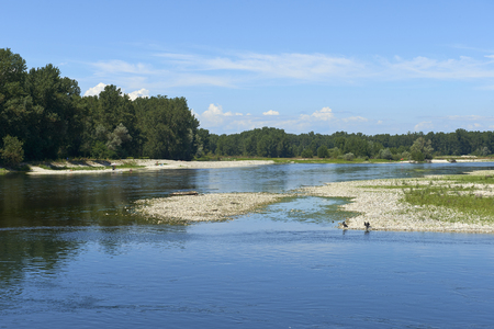 Vigevano  (Pv),Italy, the river Ticino Stock Photo