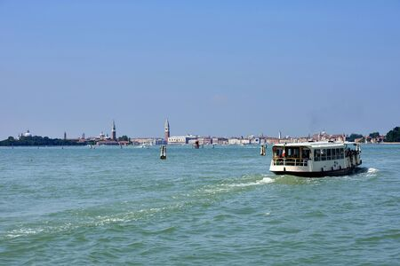 Venice,Italy,the Giudecca Canal,in the background the Basilica of Saint Mark Stock Photo