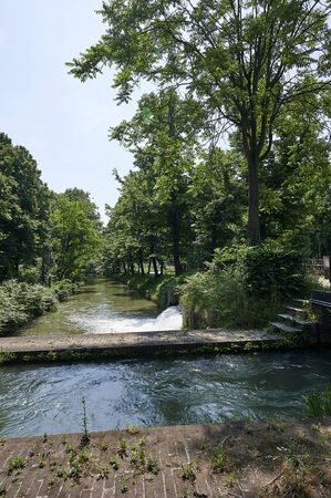 Genivolta (Cr), Italy, some keyway along the Civic Canal