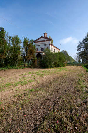 Moso (Cr), Italy, the deconsecrated and decrepit church of St. Cahterine