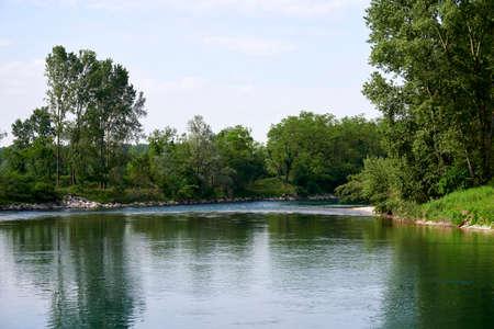 Rivolta d'Adda (Cr), Italy, a view of the river Adda Stock fotó