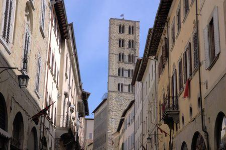 medioeval: Pieve in Arezzo, Tuscany Stock Photo