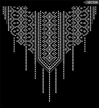 bordado: ventrales gráficos étnicos del bordado Vectores