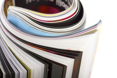 editorial: closeup roll of magazin