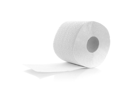 one roll of toilet paper isolated on a white background photo