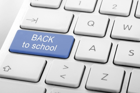 Wording Back to School on computer keyboard Stock Photo - 13629455