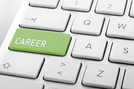 Wording Career on computer keyboard