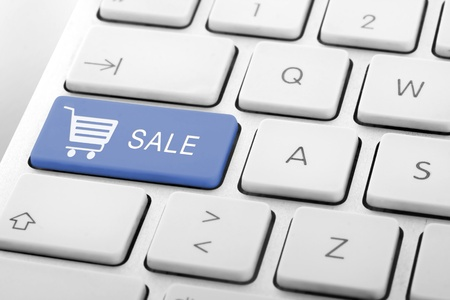 Wording Sale on computer keyboard Stock Photo - 13629451