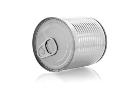 canned goods: a can isolated on white background