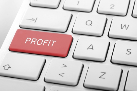 Wording Profit on computer keyboard Stock Photo