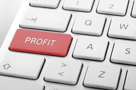 Wording Profit on computer keyboard Stock Photo - 13652581