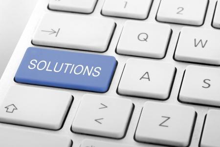 Opschrift Solutions op toetsenbord van de computer