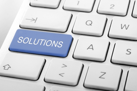 solutions: Wording Solutions on computer keyboard