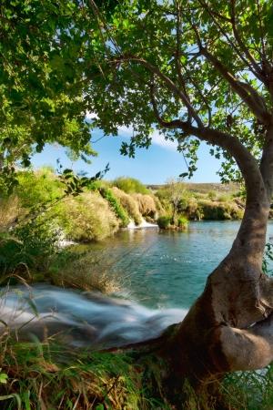 small waterfalls on river Zrmanja, Croatia Stock Photo