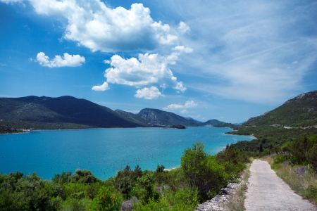 Bay on the Adriatic coast, Peljesac Peninsula Stock Photo