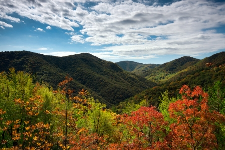 Idyllic autumn on Zumberak hills, Croatia Stock Photo