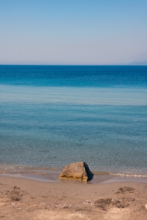 Rock on the beach near Dubrovnik, Croatia