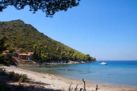 sandy beach on adriatic coast