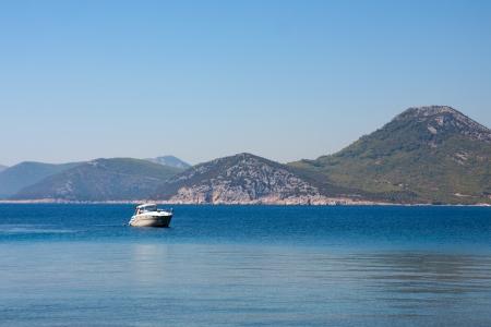 croatia dubrovnik: Yacht in Adriatic sea near Dubrovnik, Croatia