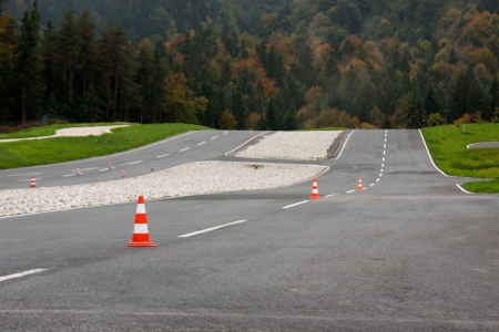 proving: View of car proving ground