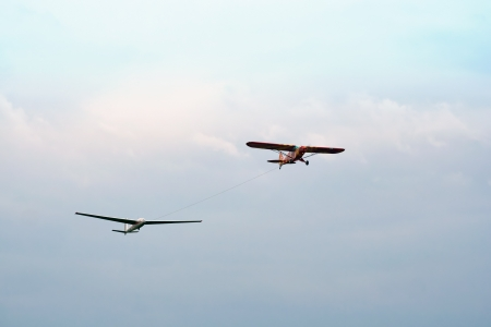 towed: Plane towed a glider2