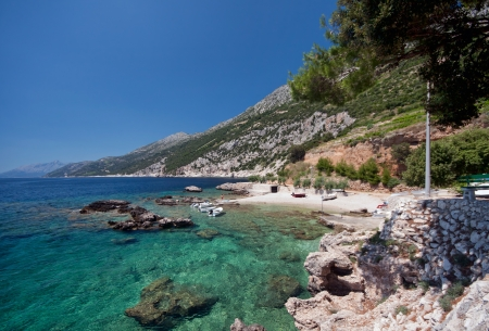 View of the Adriatic coast, Peljesac Croatia photo