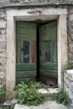 a old opened doors
